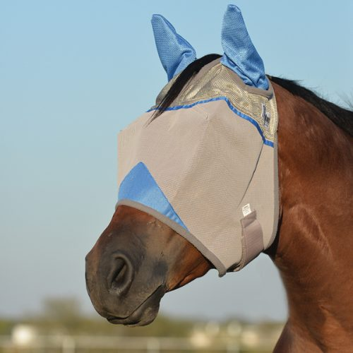 Crusader Fly Mask – Blue -Standard with Ears