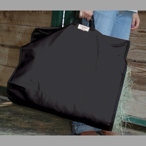Black large hay bag