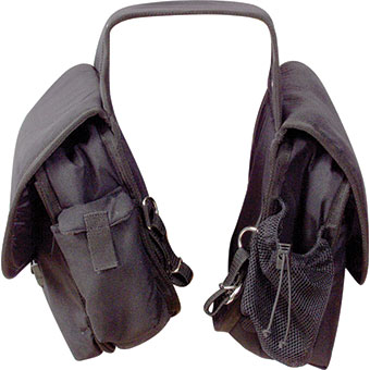 Saddle Bag- Rear- Deluxe- Black