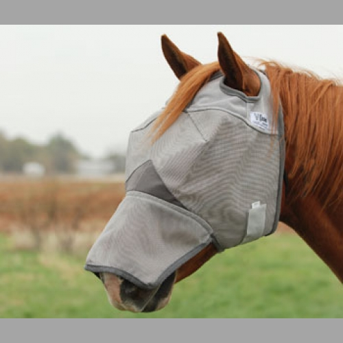 Crusader Fly Mask with Long Nose