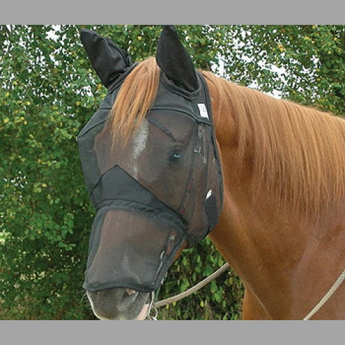 Quiet Ride Fly Mask with Long Nose and Ears