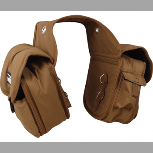 Saddle Bag Medium Rear Brown Khaki
