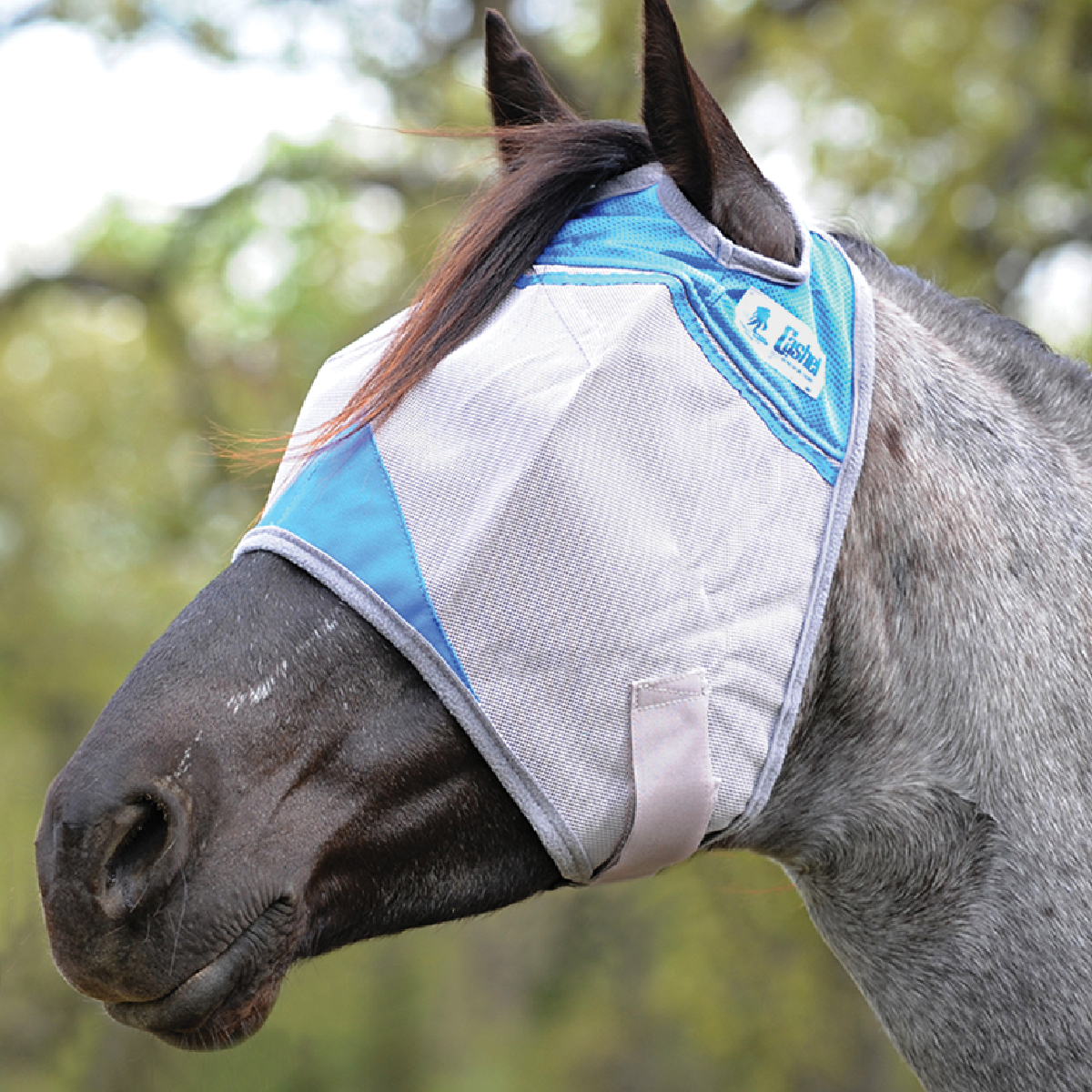 Crusader Blue Fly Mask – Standard