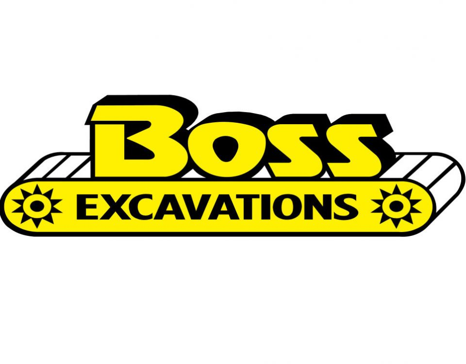 Boss Excavations Logo White Background